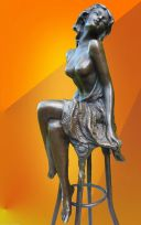 "ART DECO, BRONZE, ""Michelle"" SIGNED BRONZE STATUETTE"
